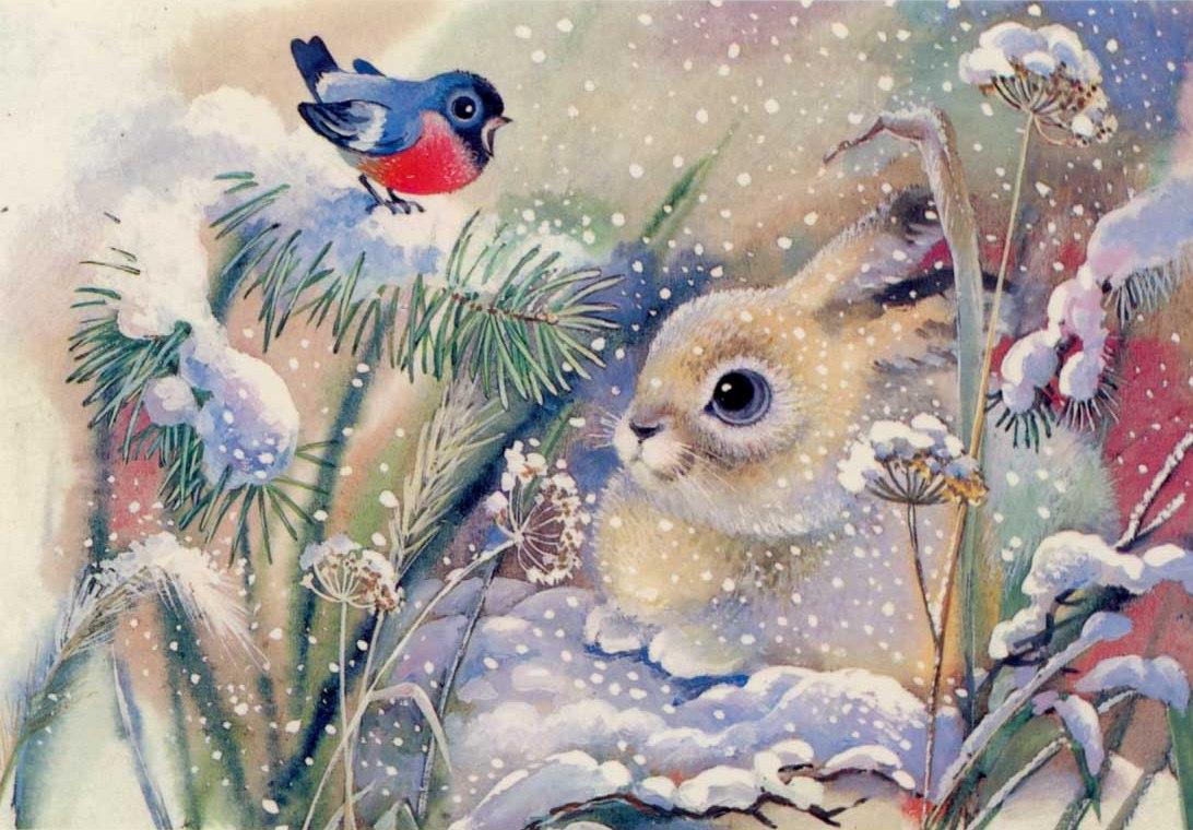 Раскраски детские новогодние открытки